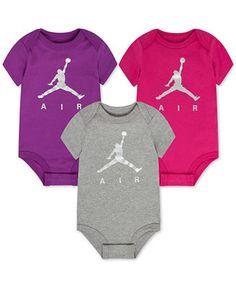 Jordan Baby Girls' 3-Pack Assorted AIR Jordan Bodysuits - All Baby - Kids & Baby - Macy's