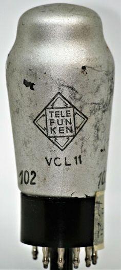 VCL11 TELEFUNKEN VALVOLA tube dke38 volksempfanger radio EPOCA POPOLARE VALVOLE Radio Design, Vacuum Tube, Vase, Ebay, Vintage, Vintage Comics, Vases, Jars