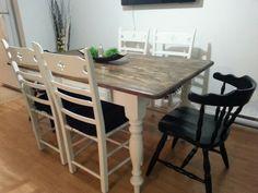 Diy farmhouse dining table !