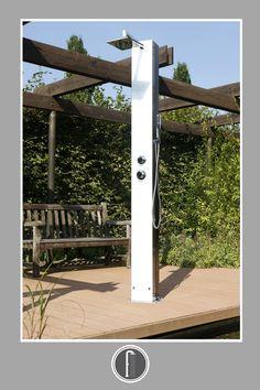 Při slunečných dnech vyuzijete solární sprchu na zahradu z kvalitního nerezu. #venkovnisprchy #sprchanazahradu