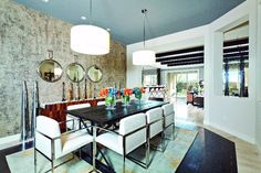 A more modern formal dining room. (Toll Brothers at Montevista, AZ)