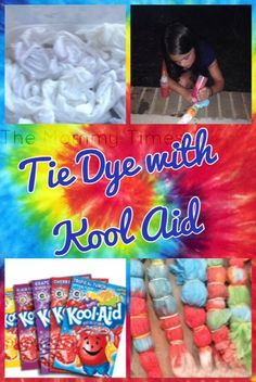 Tie Dye using Kool Aid Summer Fun