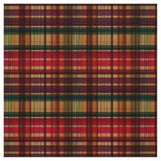 Royal colorful tartan pattern custom fabric from zazzle
