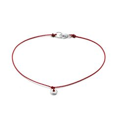 Love this beautifully simple bracelet and the meaning behind it. WABI-SABI BRACELET | Red Thread, Sterling Pendant | UncommonGoods