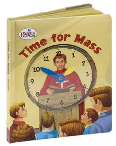 Time for Mass from Catholic Book - The colorful, engaging illustrations in Time for Mass will appeal to young people! Catholic Books, Catholic Gifts, Telling Time, Gift Store, Young People, Beautiful Artwork, Book Publishing, Teaching Kids, Books Online