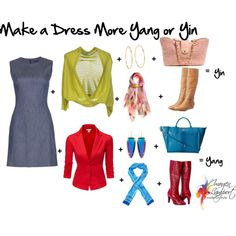 """""""Make a dress more yin or yang"""", Imogen Lamport, Wardrobe Therapy, Inside out Style blog, Bespoke Image, Image Consultant, Colour Analysis"""