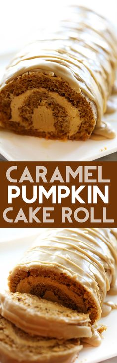 This Caramel Pumpkin Cake Roll is such a moist and delicious cake with a rich caramel cream cheese filling. It is topped with an incredible caramel frosting that is the perfect finishing touch.