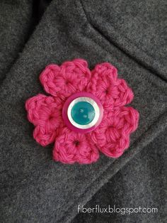 Circle of Hearts Brooch/Pin tutorial by Fiber Flux.