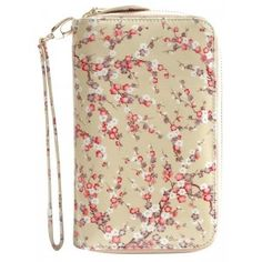 Plum Ziparound Large Clutch Wallet By Vendula London - Beige