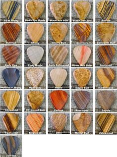 Pickslay's Guitar Pick Collection ONE by PickslaysWoodworking
