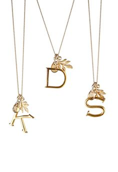love these gold alphabet charm necklaces