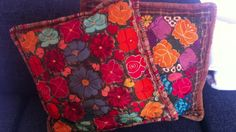 my handmade cushions from ST Miguel de Allende look amazing on my Seville sofa