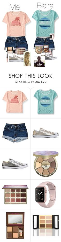 """Blaire you mean the world to me. I love to be the third wheel on your dates😂. You are my sister,we we get along so well I never want to lose you. Love you Blaire I hope one day we can go to California together💕😘."" by csouthers-1 ❤ liked on Polyvore featuring Aéropostale, Converse, tarte and Too Faced Cosmetics"