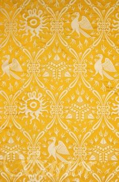 15th century, Damask Giovanna Tornabuoni. This is the fabric I used for my giornea.