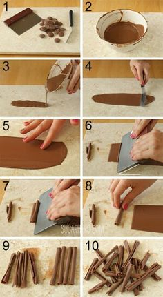 How to make chocolate straws. Recipe and video at Sugarhero.com and YouTube.