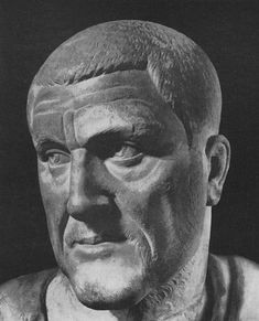 Bust of Maximinus Thrax. Marble. Ca. 235 A.D. (Rome, Capitoline Museums, Palazzo Nuovo, Hall of the Emperors)