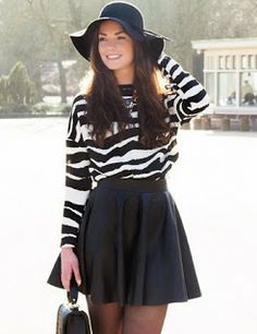 Casualicious: Crop top vs skater skirt