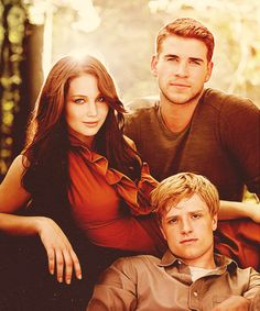 The Hunger Games Cast!  Liam Hemsworth, Jennifer Lawrence, and Josh Hutcherson