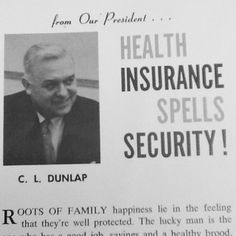 Check out United American Founder and President C.L. Dunlap in 1963! #ThrowbackThursday #TBT #UA