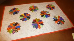 Halloween Print Dresden Plate Table Mat by Quiltbuilders on Etsy