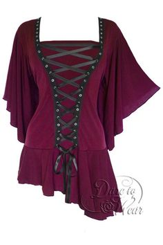 Dare To Wear Victorian Gothic Women's Alchemy Corset Top Garnet