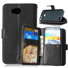 New Arrival Leather Case For LG Optimus L90 Flip Wallet PU with Stand Card Holder + Photo Frame Phone Bags Cover for lg l90 Capa