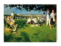 Village Cricket, taken from an oil painting . Priced at Same Ol Same Ol, Cricket Poster, Cricket England, Landscape Paintings, Acrylic Paintings, Picture Story, Everyday Activities, Home Team, British Artists