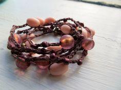 Rosie Glow: Versatile crocheted necklace / bracelet / belt / headband on Etsy, $15.00