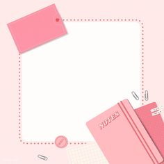 Pink notepad planner set vector | premium image by rawpixel.com / Chayanit Memo Notepad, Instagram Frame Template, Powerpoint Background Design, Instagram Background, Overlays Picsart, Collage Template, Good Notes, Note Paper, Sticky Notes
