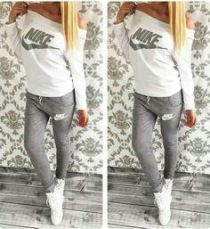 nike grey and white