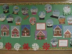 This is a reposting of a Gingerbread House project Grade 7 students created last December. They made these out of construction paper, glitt...