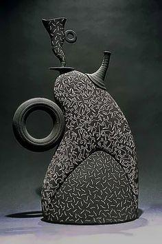 Multiple Figures Tea Pot by Michael Torre