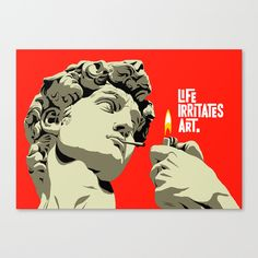 "CANVAS PRINT / SMALL (18"" X 13"") Life Irritates Art by Butcher Billy"