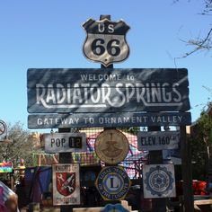 We'd stop by Radiator Springs to meet Lightening and Mater