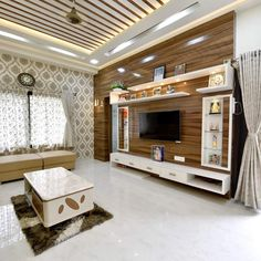 interior design for bhk flat Tv Cabinet Design, Tv Wall Design, Duplex House Design, Modern House Design, Modern Tv Wall Units, Modern Tv Unit Designs, Tv Unit Furniture Design, Living Room Theaters, Home Entrance Decor