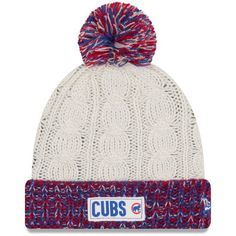 sports shoes 235f3 a5990 Chicago Cubs New Era Women s Rugged Tag Cuffed Knit Hat - White