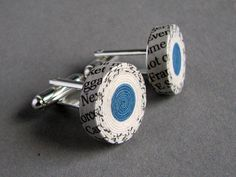 newspaper cufflinks by blureco . . . . . der Blog für den Gentleman - www.thegentlemanclub.de/blog