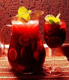 I think it's going to be the summer of the Sangria. Fruit Cups, Fruit Drinks, Bar Drinks, Fruit Smoothies, Cocktail Drinks, Cold Drinks, Beverages, Fruit Juice Recipes, Smoothie Recipes