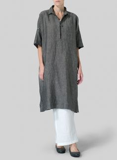 MISSY Clothing - Linen Oversized Monk Dress