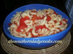 MACARONI AND TOMATOES....finally found my Mother-in-laws pasta I love so much!