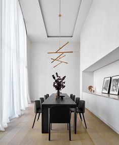 Simple Z by Christopher Boots - Coup D'Etat Furnishings, Luxury Dining Room, Chic Dining Room, Contemporary Furniture Design, Interior, Black Dining Room, Dining Table Black, Modern Dining Room, Neutral Dining Room