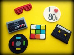 80s cupcakes toppers by TutuCuteCakes on Etsy, $25.00