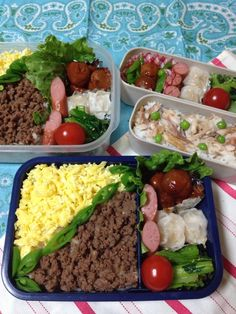 Twitter from @mey_candy おはようございます。今日は研修会の為、私もお弁当だよん。さて、準備ー。 #obentoart #obento #弁当 #lunch