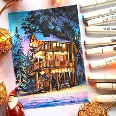 Copic Marker Art, Copic Art, Copic Drawings, Art Drawings Sketches, Art Du Croquis, Illustrations, Illustration Art, Art Manga, Guache