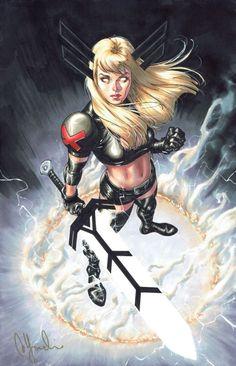 Magik ( Illyana Rasputin ) David Yardin X-man Marvel Comics Magik Marvel, Marvel Comics Art, Marvel Comic Books, Marvel Heroes, Comic Books Art, Comic Art, Marvel Avengers, Marvel Women, Marvel Girls