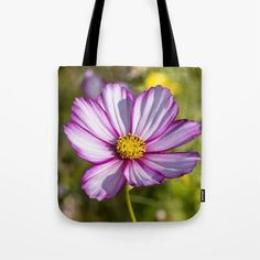 Cosmos Flower Tote Bag - Would make a great gift!  #totes #totebags #shoppingbags #society6 (affiliate link)