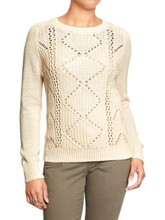 Women's Cable Sweaters Product Image