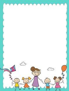 34 Free borders and frames - Aluno On Boarder Designs, Page Borders Design, Borders For Paper, Borders And Frames, Borders Free, Art Drawings For Kids, Drawing For Kids, School Border, Kindergarten Portfolio