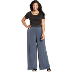 Alfani Plus Size Wide-Leg Palazzo Pants from Macy's #womens #fashion #curvy