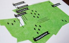 Washington Map by These Are Things Studio http://thesearethings.com/ This article is hilarious and I love Washington!